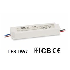 Блок питания Mean Well 18W DC12V IP67 (LPH-18-12)